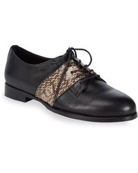 Opening Ceremony - Embossed Leather Oxfords - Lyst