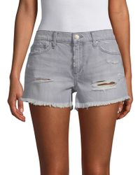 Joe's Jeans - Gabrielle Distressed Denim Shorts - Lyst