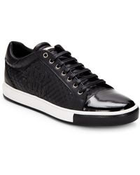 Roberto Cavalli Leather Lace-up Trainer - White