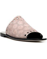 Diane von Furstenberg Estevan Suede Slip-on Flat Sandals - Multicolor