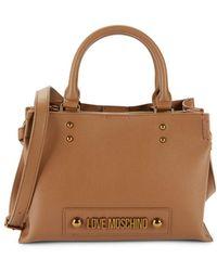 Love Moschino Women's Logo Top Handle Bag - Brown