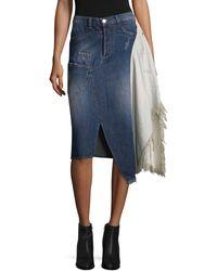 Each x Other Deconstruted Denim Skirt - Blue