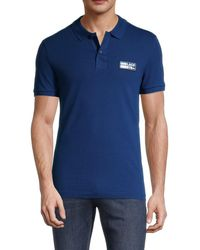 Lacoste Men's Short Sleeved Ribbed Collar Polo - Globe - Size 7 (xxl) - Blue