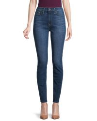 7 For All Mankind Women's Gwenevere High-rise Skinny Jeans - Athens Blue - Size 25 (2)