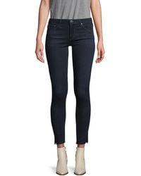 AG Jeans Super Skinny Ankle Jeans - Blue