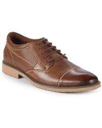Steve Madden - P-share Leather Captoe Blucher Shoes - Lyst
