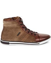 Kenneth Cole High-top Leather Trainers - Brown