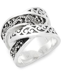 Lois Hill - Carved Sterling Silver Ring - Lyst