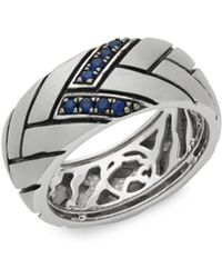 Effy - Sapphire And Sterling Silver Ring - Lyst