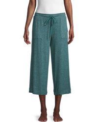 Donna Karan Cropped Sleepwear Trousers - Green