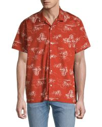 Madewell Paradise Easy-fit Short-sleeve Shirt - Red