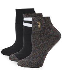 Steve Madden Three-pack Pearl Ankle Socks Set in Black for Men - Lyst 19c01116d