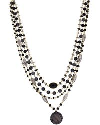 Saachi Marie Goldtone, Agate, Glass & Mother-of-pearl Beaded Necklace - Multicolour