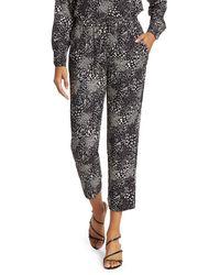 Joie Ceylon Print Cropped Pants - Black