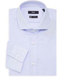 BOSS by Hugo Boss Jason Slim-fit Check Dress Shirt - Blue
