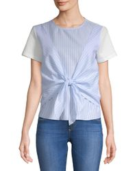 English Factory - Striped Cotton Top - Lyst