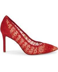 Sam Edelman Hazel Splatter-print Pumps - Red