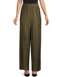 Alice + Olivia Women's Pleated Wide-leg Trousers - Olive - Size Xs - Green