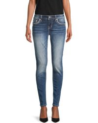 Miss Me Hailey Embroidered Skinny Jeans - Blue