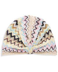 Missoni Women's Multicolour Chevron Turban - Neutral Multi