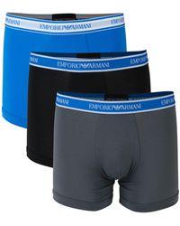 Emporio Armani 3-pack Boxer Briefs - Blue
