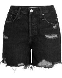 Free People Makai Cut Off Denim Shorts - Black