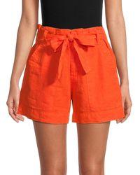 Joie Daynaa Paper Bag Shorts - Orange