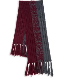Armani - Wool Blend Cable Scarf - Lyst