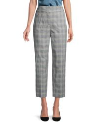 Rebecca Taylor Plaid Suiting Pant - Gray