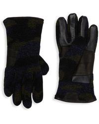 UGG Leather-palm Faux Fur Smart Gloves - Black