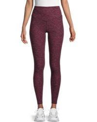 Nine West Women's High-rise Leggings - Sangria Black - Size M - Purple
