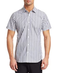 Saks Fifth Avenue Modern Vertical Stripe Short-sleeve Shirt - Multicolour