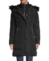 Karl Lagerfeld Faux Fur-trim Down Parka - Black