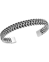 Effy 0.925 Sterling Silver Woven Cuff Bangle - Metallic