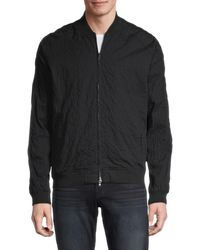 John Varvatos Men's Embellished Cotton-blend Bomber Jacket - Black - Size L