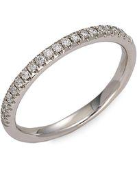 Saks Fifth Avenue 14k White Gold & White Diamond Ring