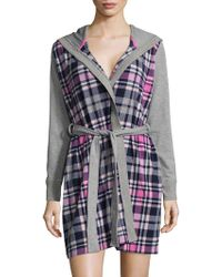 Jane And Bleecker - Plaid Hooded Robe - Lyst