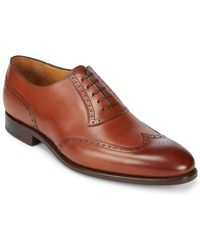 Carlos Santos - Goodyear Welted Leather Oxfords - Lyst