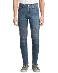 Hudson Jeans Men's Ethan Biker Skinny Jeans - Kuban - Size 33 - Blue