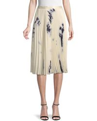 Wdny Accordion Pleated Knee-length Skirt - Natural