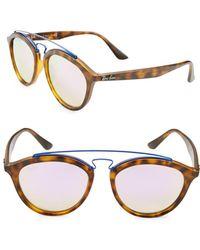 Ray-Ban - Oval Aviator Sunglasses - Lyst