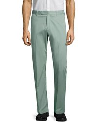 Saks Fifth Avenue Stretch-cotton Dress Pants - Green