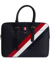 Thom Browne Business Leather Briefcase - Black