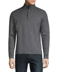 Stand Up Collar Quarter Zip Down Pull Over Sweater