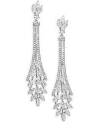 Adriana Orsini Daphne Pavé Crystal Chandelier Earrings - Metallic