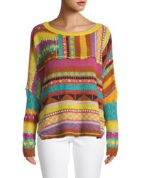 Free People December Skies Poncho - Multicolour