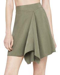 BCBGeneration Asymmetrical Faux-wrap Mini Skirt - Green