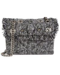 Kurt Geiger Women's Mini Kensington Tweed Shoulder Bag - Grey