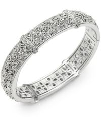 Adriana Orsini Women's Pavé Filigree Bangle Bracelet - Metallic