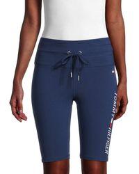 Tommy Hilfiger Women's High-rise Logo Shorts - Deep Blue - Size S